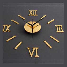Relógio Parede Monte Vocêmesmo Espelho Dourado Sala Cozinha