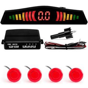 Sensor Estacionamento Techone Vermelho 4 Pontos Display Led