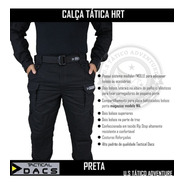 Calça Tática Militar Hrt - Ripstop Preta - Tactical Dacs