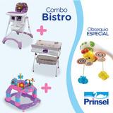 Combo Bistro Morado Silla+andadera+bañera+movil Prinsel