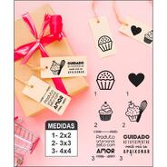 Kit 6 Carimbos Confeitaria Tag, Sacos, Sacolas E Caixa Kraft