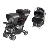 Carriola Baby Trend Doble Sit N Stand Con 1 Portabebe