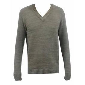 Blusa Masculina De Frio Gola V Lã Trico