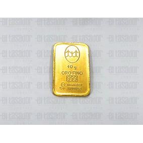 Lingote De Oro 24 K 10 G Banco Ciudad *joyeriaeltasador*