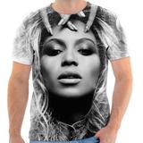 Camiseta Blusa Personalizada Cantora Pop Beyonce Música 01