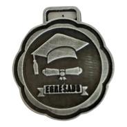 10 Medallas Egreso Egresados Escolar 3,5cm