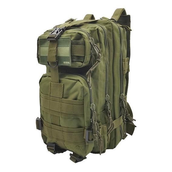 Mochila Kossok Alfa Táctica De Gran Capacidad Con Múltiples Compartimentos, Reforzada.