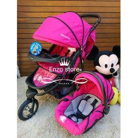 Carrinho De Bebe Menina 3 Rodas Aluminio+ Bb Conforto Novo