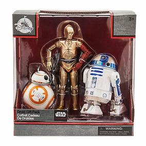 Star Wars Paquete Droides C-3po,r2-d2 & Bb-8 Die Cast Disney