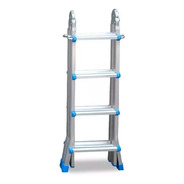 Escalera Aluminio Pie De Gigante 3,98m Kulbart 4x4