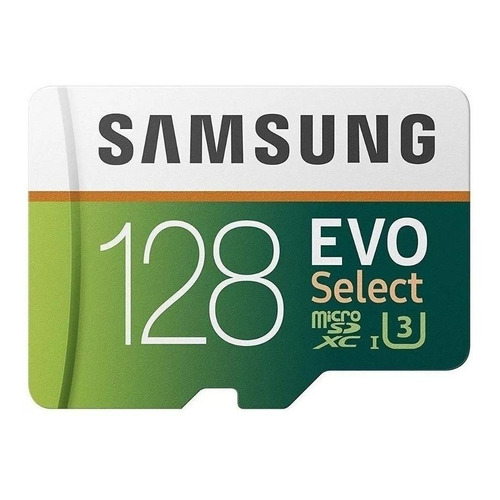 Tarjeta de memoria Samsung MB-ME128GA/AM Evo Select con adaptador SD 128GB