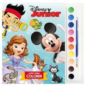 Livro Coleção Aquarela Disney - Disney Junior Novo