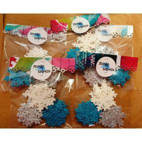 Copos De Nieve Frozen Cumpleaños Candy Bar Adorno Tarjetas