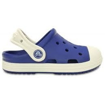 Crocs Niño Bump It Clog Kids Azul Y Blanco Originales