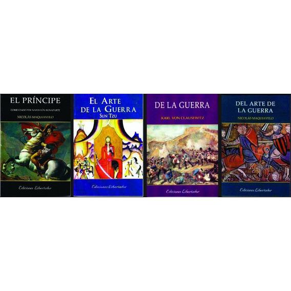 Lote X 4 Libros Estrategia El Arte De La Guerra El Principe