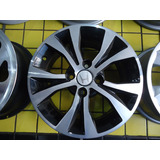 Roda 15 Honda Fit City Civic 4x100 Preta Diamantada