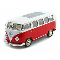 1962 Volkswagen Autobús Clásico, Borgoña - Welly /24 Escal