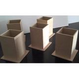 50 Portalapices De Fibrofácil Mdf 6x6x9