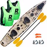 Kayak Rocker Mirage Camuflado 2017 Remos 2 Chalecos M15
