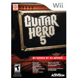 Videojuego Wii Guitar Hero 5 Game Only