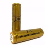 Bateria O Pila 18650 4.2 Vlts 8800 Mah Lampara Laser Dron