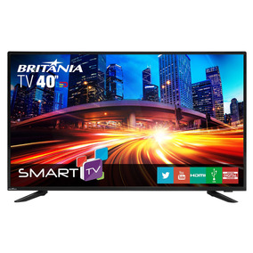 Tv Britânia 40 Led Smart Com Netflix