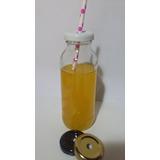 Botella X 250cc Con Tapa Perforada Jugo/candy/souveniers