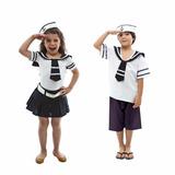 Fantasia Marinheiro E Marinheira Infantil Carnaval - Casal