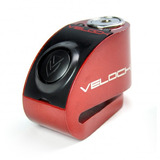 Trava De Disco Velock Com Alarme Led Cabo Lembrete Moto