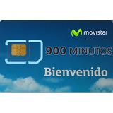 Sim Minutera 900 Minutos+ilimitado A Fijos Y Moviles Movist