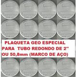 Caixa C/100 Plaqueta Georreferenciamento P/ Tubo De 50,8mm