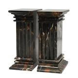 Marblecrafter Colgantes De Columnas Estriadas En Negro Y Or