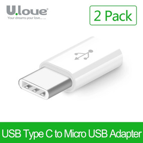 Adaptador Micro Usb A Usb Tipo C 3.1 X2 Blanco 2017