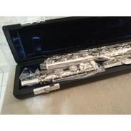 Flauta Transversal Jahnke 17 Pé Em Si Vazada Níquel - Nova