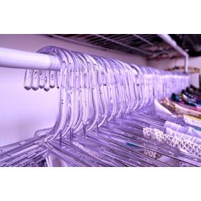 110 Cabides Acrilico Transparente Linha Premium + Brinde