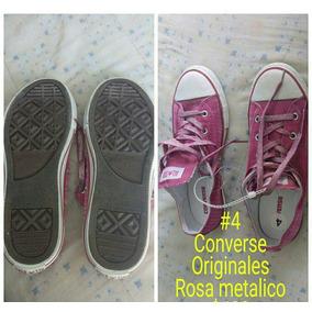Converse Nuevos Rosa Metalico
