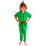 Fantasia Peter Pan Infantil Longa Terra Do Nunca