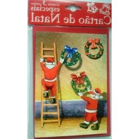 Cartão De Natal-temas Diverso-kit Com 10 Cada Um Com 3 Unid