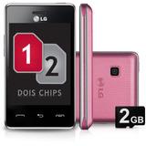 Celular Lg T375 Desbloqueado Rosa Dual Chip | Vitrine