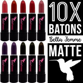 Batom Matte Bellafemme - Kit Com 10 Batons Atacado Revenda