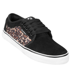 Zapatillas Skate Airwalk Mode Ii - Negro Y Print. Talle 36.5