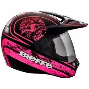 Capacete Bieffe 3 Sport Uno Preto E Pink Nº58 Lançamento Top