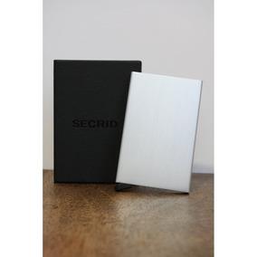 Porta Cartões De Crédito Em Alumínio - Minimalista Pop-up