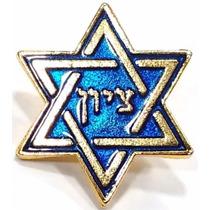 Pim Bótom Broche Hexagrama Estrela De Davi Folheado A Ouro