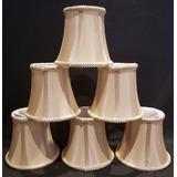 Kit 6 Mini-cúpulas Bronze De Encaixar Lampada Vela De Lustre