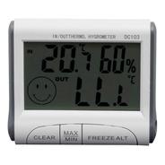 Higrômetro Digital Com Termômetro Temperatura Max E Min