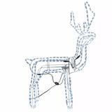 Luces Led Reno Navideño Navidad 120 Cm De Alto + Movimiento