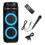 Bafle Recargable Bluetooth Doble Parlante 6 Pulgadas Potente Con Control Remoto Sd Usb Musica