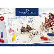 Faber Estojo Cartonado Mini Giz Pastel Seco 72 Cores Curto