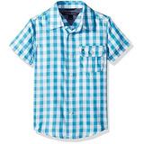Camisa Infantil Xadrez Manga Curta Tommy Hilfiger Original ff2bc4f6391